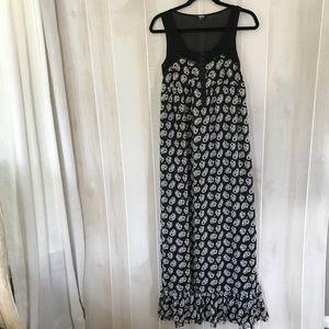 ASOS Black floral maxi dress